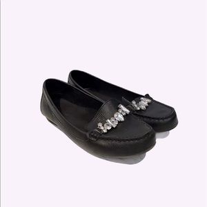 White Mountain Bejewelled Loafers Black Size 7